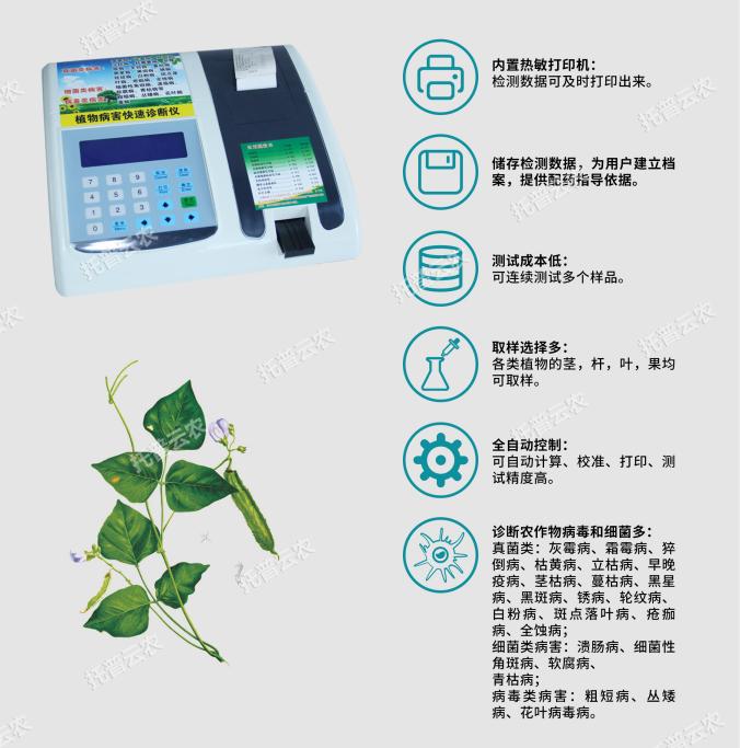 植物病害检测仪主要功能